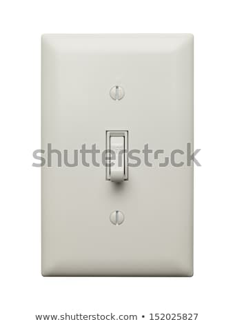 light switch isolated on white background stock photo © ozaiachin