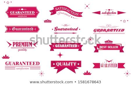 garantie · garantir · sceau · rose · vecteur · bouton - photo stock © rizwanali3d