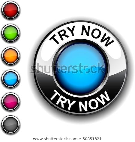 Try Now Blue Vector Icon Design Stock photo © rizwanali3d