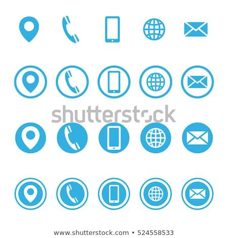 Email Vector blue Web Icon Stock photo © rizwanali3d
