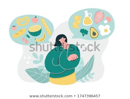Ernährung Fettleibigkeit Schild Fitness Hintergrund Zeichen Stock foto © fuzzbones0