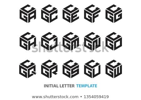 logo · design · modello · lettera · futuro · clean - foto d'archivio © blaskorizov