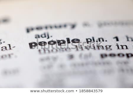 辞書 定義 民族 言葉 紙 赤 ストックフォト © chris2766
