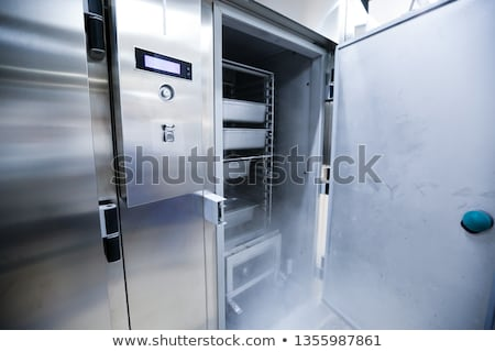 нержавеющая сталь холодильнике продовольствие двери фон кухне Сток-фото © ozaiachin