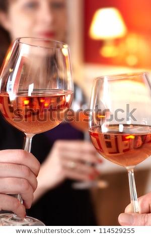 toast · successo · primo · piano · business · partner · mani - foto d'archivio © dashapetrenko