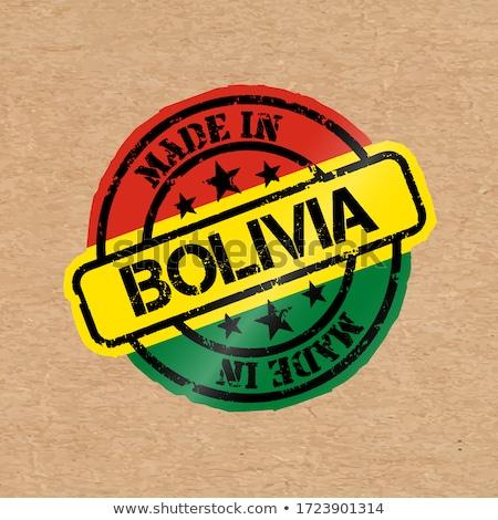 Stock fotó: Bolívia · vidék · zászló · térkép · forma · szöveg