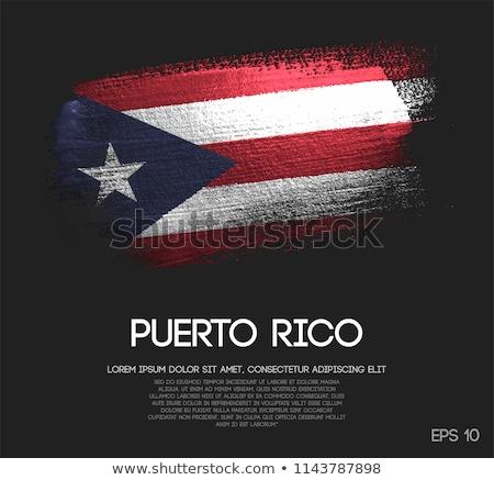 Puerto Rico land vlag kaart vorm tekst Stockfoto © tony4urban