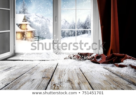 Show-window with Christmas-tree decorations Stock photo © Paha_L