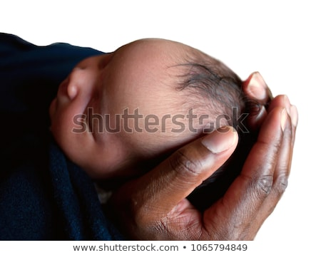 suckling of a newborn baby after delivery Stock photo © phbcz