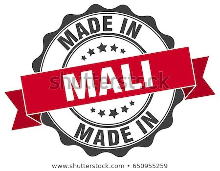 Mali pays pavillon carte forme texte Photo stock © tony4urban