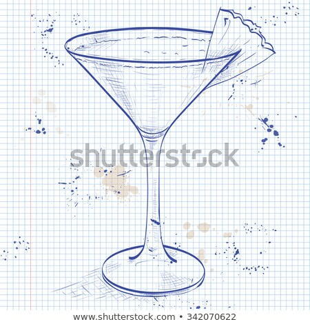 Cocktail Mary Pickford on a notebook page Stock photo © netkov1