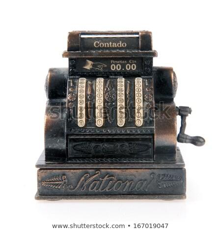 velho · caixa · registradora · pormenor · vintage · sujo · metal - foto stock © smuki