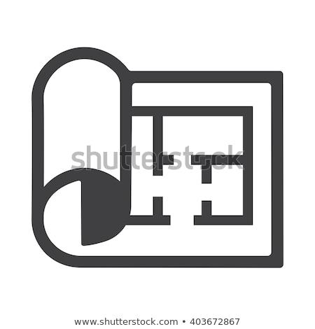 Zdjęcia stock: Inżynier · żółty · wektora · ikona · projektu · cyfrowe