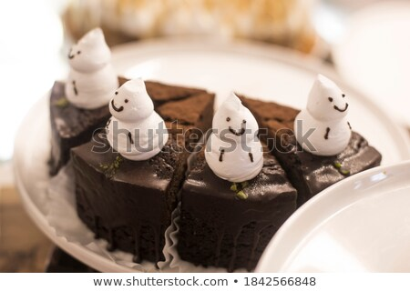 チョコレート · 陽気な · クリスマス · 雪だるま · 先頭 - ストックフォト © rojoimages