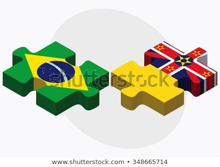 Brazilië vlaggen puzzel geïsoleerd witte business Stockfoto © Istanbul2009