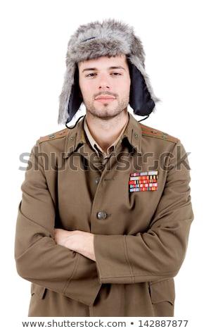 sovyet · askeri · subay · dünya · savaş - stok fotoğraf © cosma