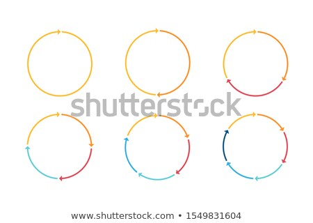 Kettő körkörös nyilak vonal ikon háló Stock fotó © RAStudio