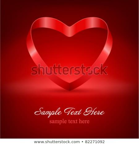 Stock fotó: Klasszikus · szív · íj · valentin · nap · eps · 10