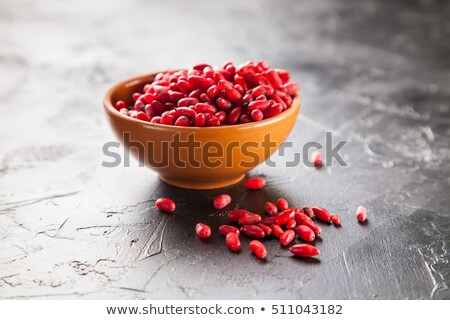 Pile of red chinese wolfberry fruit with copy space Stock photo © ozgur