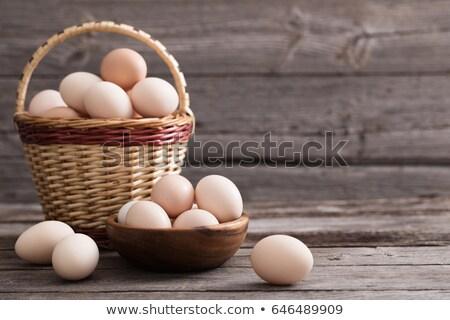 tavuk · yumurta · sepet · beyaz · doğa - stok fotoğraf © OleksandrO