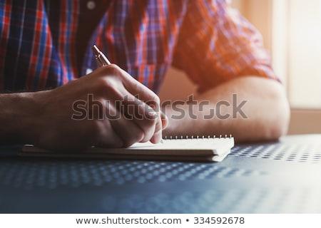 Сток-фото: человека · Дать · отмечает · ноутбук · Top · мнение