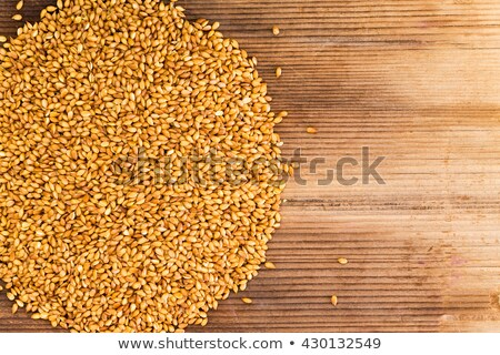 Whole roasted flax seed grains with copy space Stock photo © ozgur