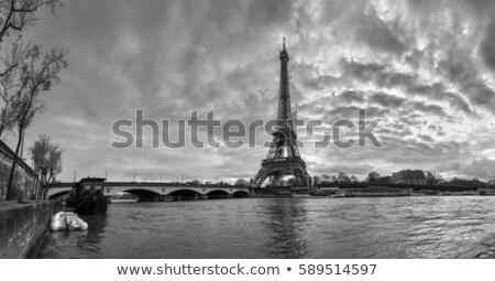 Эйфелева · башня · Париж · антенна · закат · Франция · небе - Сток-фото © photocreo