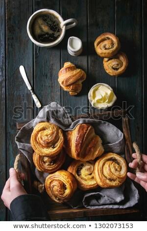 children hand with bread stock photo © -baks-