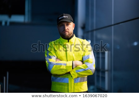 Homme permanent entrée portrait jeunes Photo stock © AndreyPopov