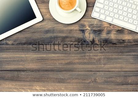 Kırmak imzalamak ahşap masa saat iş ofis Stok fotoğraf © fuzzbones0