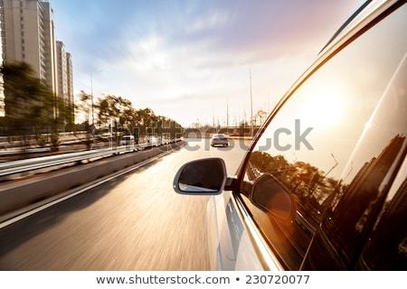 車 · 運転 · 日没 · suv · 太陽 · 隠された - ストックフォト © meinzahn
