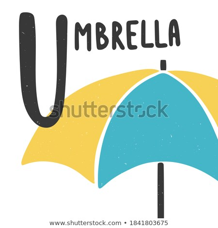 A letter U for umbrella Stock photo © bluering