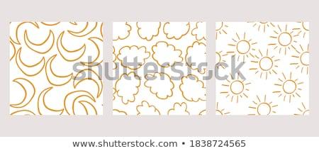 Abstrato padrão sem costura amarelo preto moda Foto stock © olgaaltunina