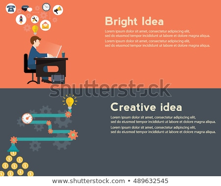 Creative idea generator, bright idea modern vector illustration. web banner Stock photo © Photoroyalty