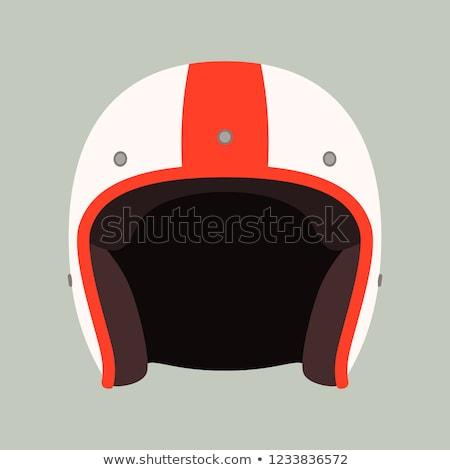 moto · casque · noir · rouge · bleu - photo stock © rastudio