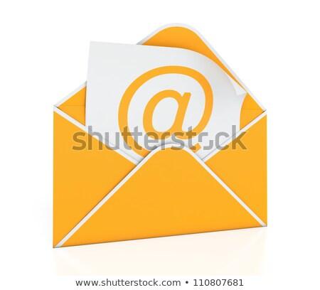 orange · courriel · icône · lettre · communication · enveloppe - photo stock © dzsolli