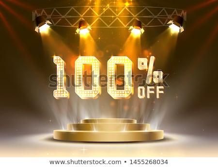 100 financière vente nombre acheter face Photo stock © dzsolli