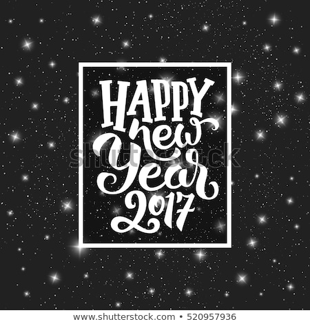 happy starry new 2017 year card vector illustration stock photo © carodi