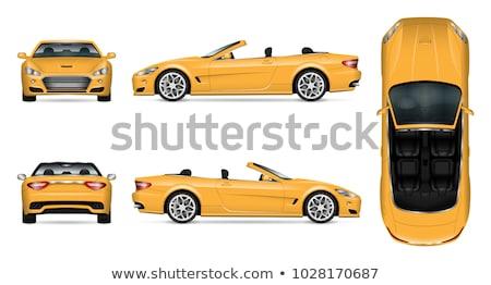 üst yandan görünüş spor araba beyaz araba arka plan Stok fotoğraf © bluering