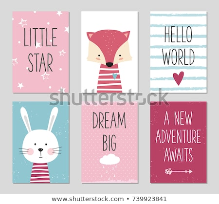 Baby Girl Character Template Vector Illustration. Stock photo © robuart