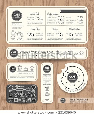 Fırın alışveriş broşür şablon dizayn gıda Stok fotoğraf © rioillustrator