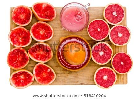ルビー グレープフルーツ 静物 ジュース 竹 まな板 ストックフォト © ozgur
