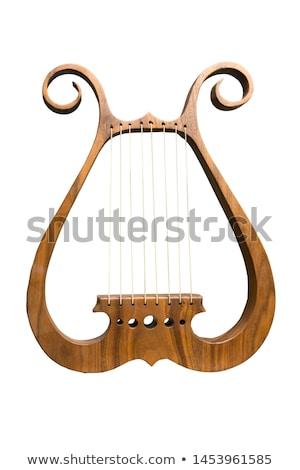 grec · instrument · de · musique · fleurs · soleil · fond · danse - photo stock © sifis