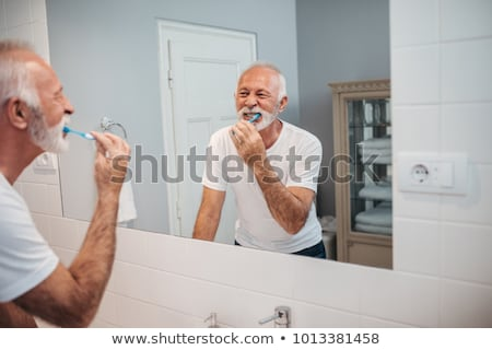 man in Everyday Brushing Teeth Stock photo © Istanbul2009