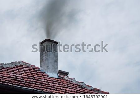 cheminée · feu · paysage · technologie · fond - photo stock © stevanovicigor