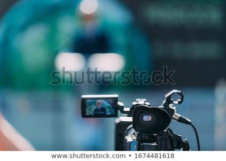 журналист СМИ события Новости конференции репортер Сток-фото © wellphoto