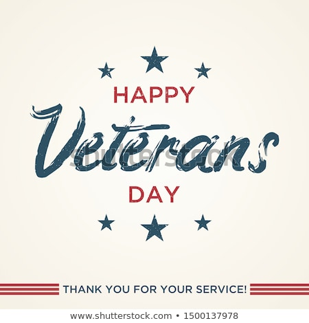 November 11 Veterans Day. Lettering text Stock photo © orensila