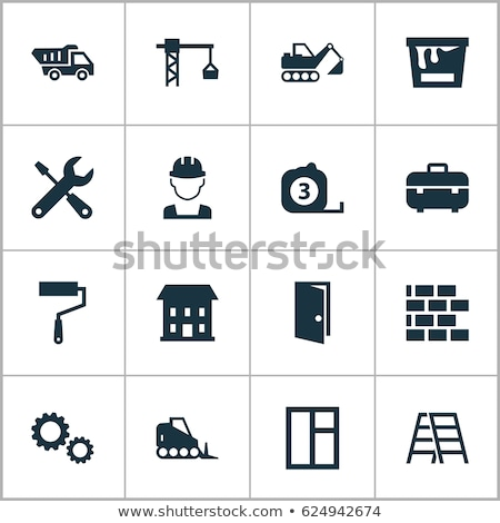 Construction Digger Icon Set Stock photo © sdCrea