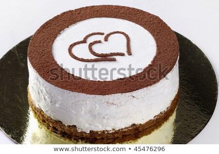 Tiramisu plaat voedsel cake dessert zoete Stockfoto © monkey_business