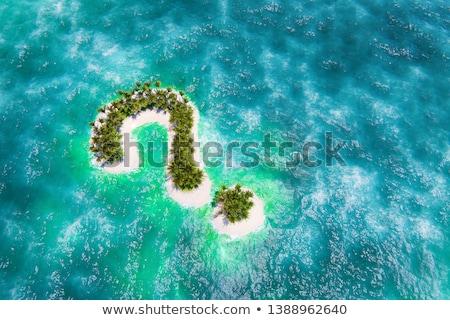 вопросительный знак острове два Сток-фото © maxmitzu